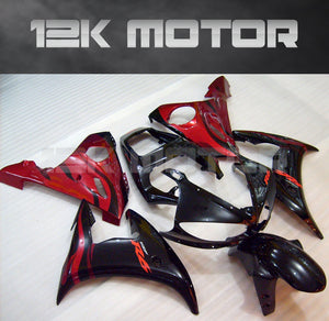 Black Red Fairing  fit for Yamaha R6 2003-2005 Aftermarket Fairing Kits