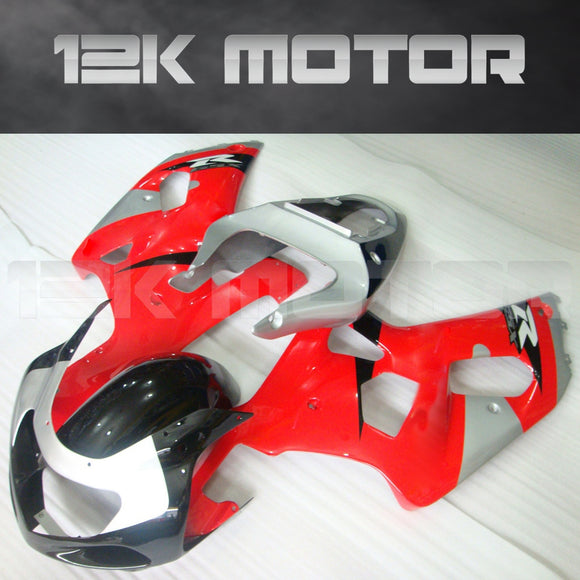 Red and Silver Fairing Fit For SUZUKI GSXR 600/750 2000-2003 Aftermarket Fairing Kit