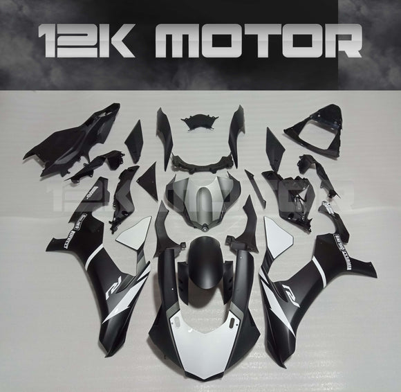 Matt Black Gloss White Color Fairing Kit for Yamaha R1 2015-2019