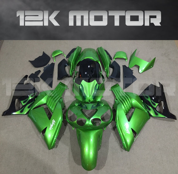 Green Aftermarket Fairing Kit Fit KAWASAKI 2006 - 2011 ZX-14R