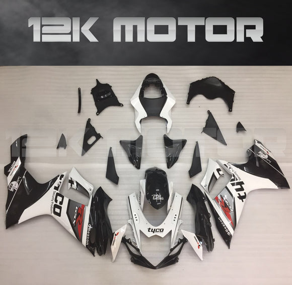 Tyco Black White Fairing Kit for SUZUKI GSXR 600/750 fairings 2011 2012 2013 2014 2015 2016 2017 Aftermarket Fairing Kit