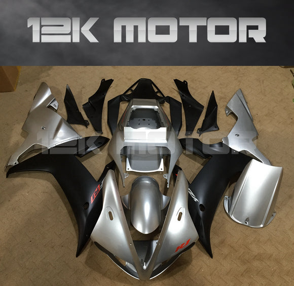 Silver and black Fairing For Yamaha R1 2002 2003 Aftermarket Fairing Kit