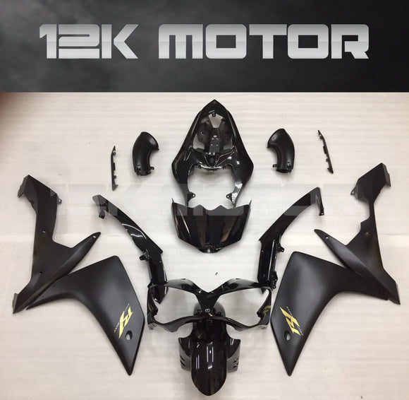 Matt Black Gold Stickers Fairings for Yamaha R1 2007 2008 Aftermarket Fairing kits