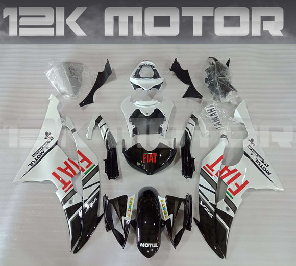 Black White FIAT Fairing Kit for Yamaha 2008-2016 R6 Aftermarket Fairing Kits