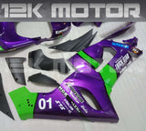 For KAWASAKI ZX6R Purple Fairing Kit 2005 2006