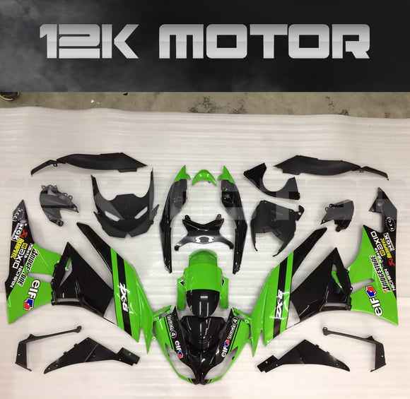 ZX6R Fairing Kit for Kawasaki ZX6R Fairings 2009 to 2012 Green Black Fairing set