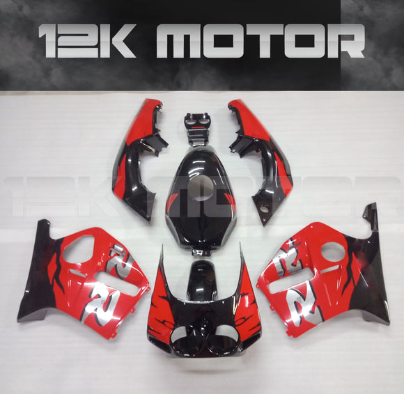 HONDA CBR250RR fairings MC19 fairing kits 1988 1989 Red Black Fairing set