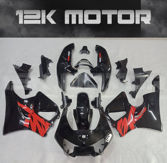Black and Red Fairing Kit Fit HONDA CBR900RR 1998 1999