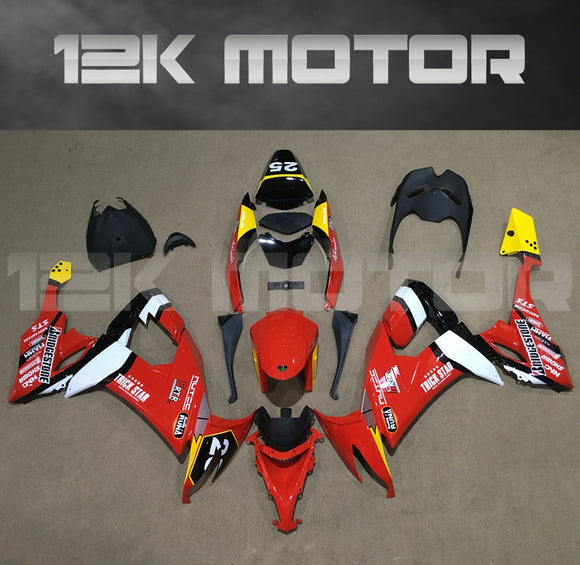 Red Fairing kit fit 2008 to 2010 ZX-10R