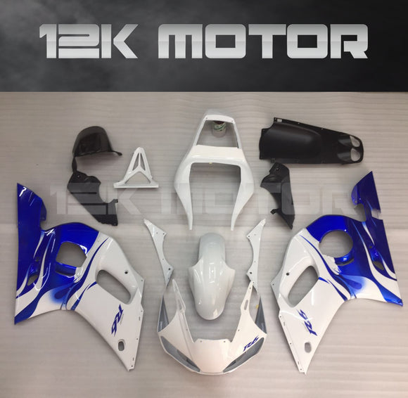 Blue White aftermarket Fairing fit for Yamaha R6 1998-2002