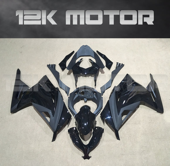 ---AU STOCKING---Fit KAWASAKI Ninja 300 Gloss Black Fairing kit