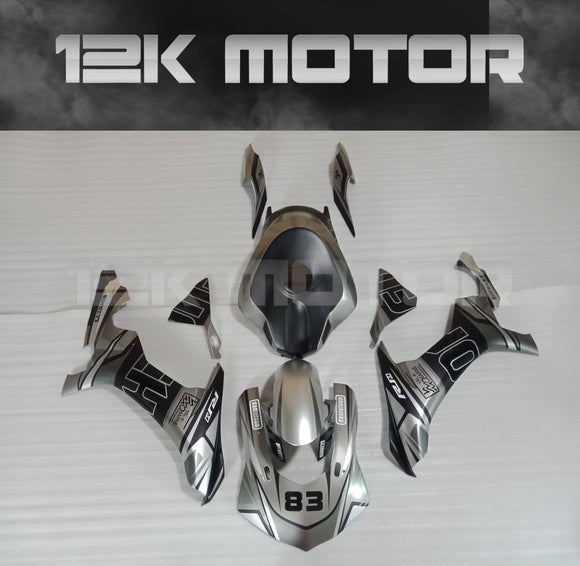 Matt Silver Black Fairing Kit for Yamaha R1 2015-2019