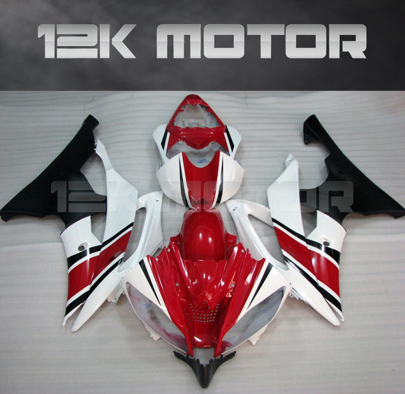 White Red Fairing fit for Yamaha R6 2008-2016 Aftermarket Fairing Kits