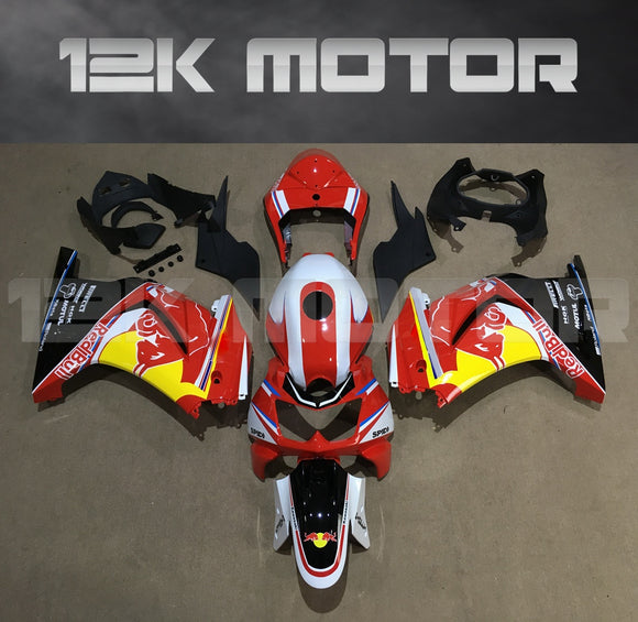 Ninja 250R EX250 2008 - 2012 Red Bull Fairing Kit Set
