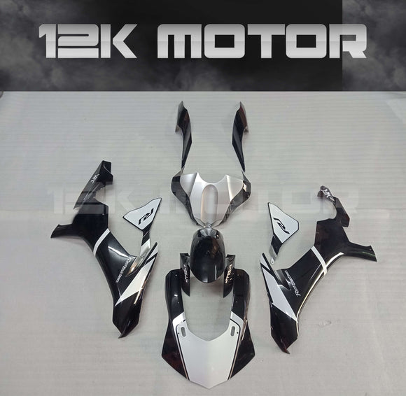 Black White Fairing Kit for Yamaha R1 2015-2019