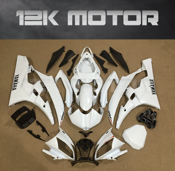 YZF R6 fairings 2006 2007 All White Fairing Kit sets