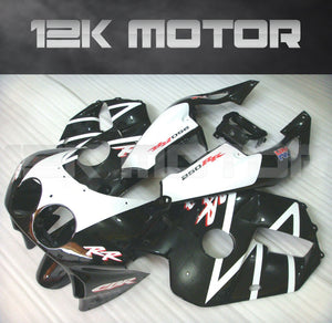 CBR250RR fairings / MC22 fairings 1990-1999 Honda Black White Fairing Set