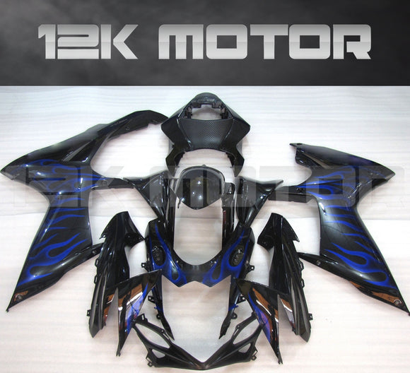 Black Blue Flame Design Fairing fit for SUZUKI GSXR 600/750 2011-2017 Aftermarket Fairing Kit