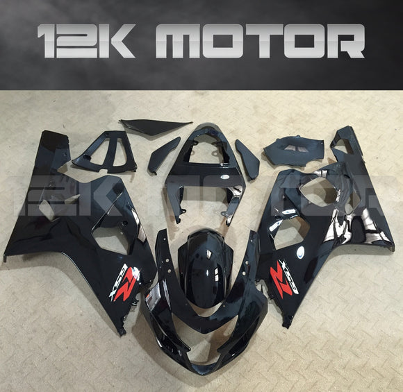 Black Fairing Fit For SUZUKI GSXR 600/750 2004 2005 Aftermarket Fairing Kit