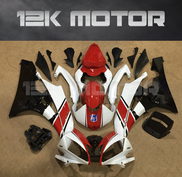 R6 2006 2007 RED WHITE FAIRING KIT