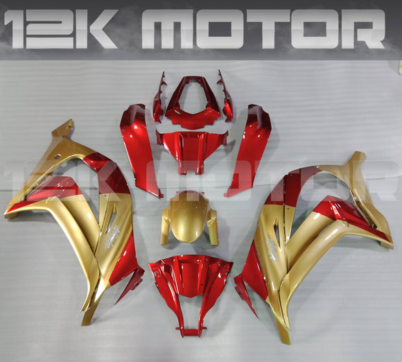 Gold and Candy Red Color Kawasaki ZX10R Fairing Kit 2011 2012 2013 2014 2015