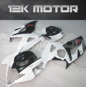 White and Black Fairing Fit for SUZUKI GSXR 1000 2005 2006 Aftermarket Fairing Kit