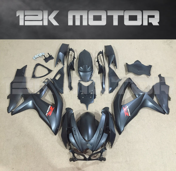 Matt Black Fairing Fit for SUZUKI GSXR 600/750 2008-2010 Aftermarket Fairing Kit