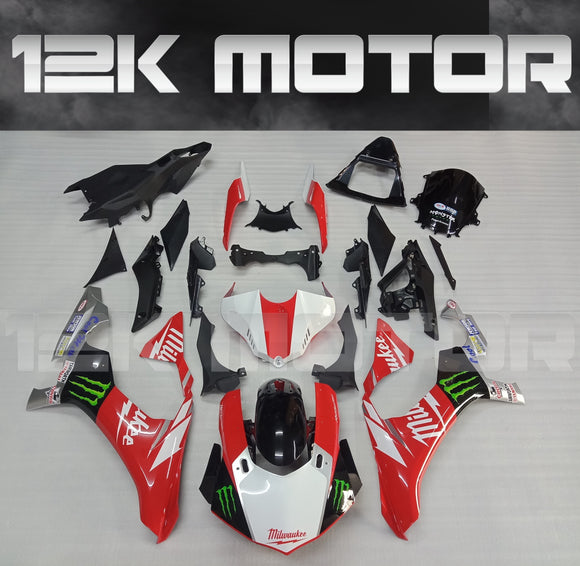 Milwaukee Scheme For Yamaha 2015-2019 R1 Fairing Kit