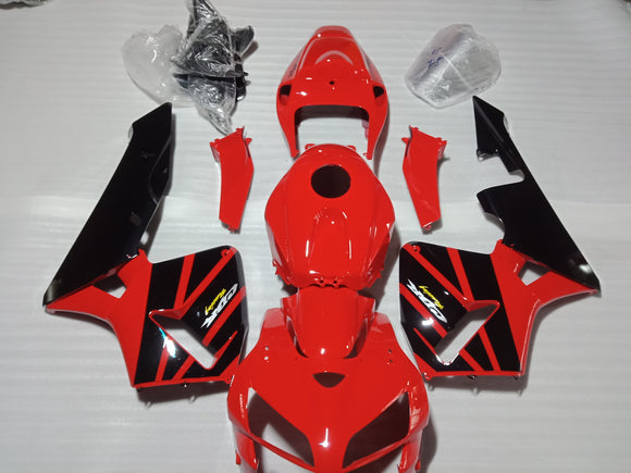 ---AU STOCKING--- Red Black Fairing Kit Fit Honda CBR600RR 2005 2006