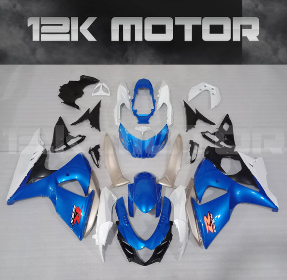 Factory Blue White Design Fairing kit for SUZUKI GSXR1000 2009 - 2016