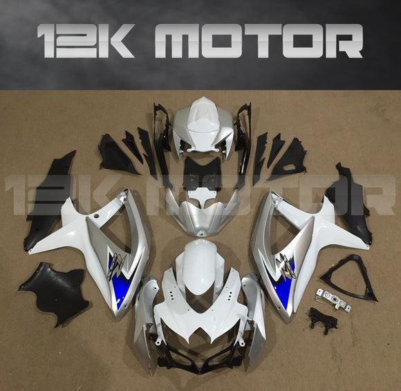 Silver White Fairing Fit for SUZUKI GSXR 600/750 2008-2010 Aftermarket Fairing Kit