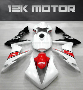 White and Red Color Fairing For Yamaha R1 2004-2006 Aftermarket Fairing Kit