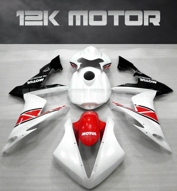 White and Red Color Fairing For Yamaha R1 2004 2005 2006 Aftermarket Fairing Kit