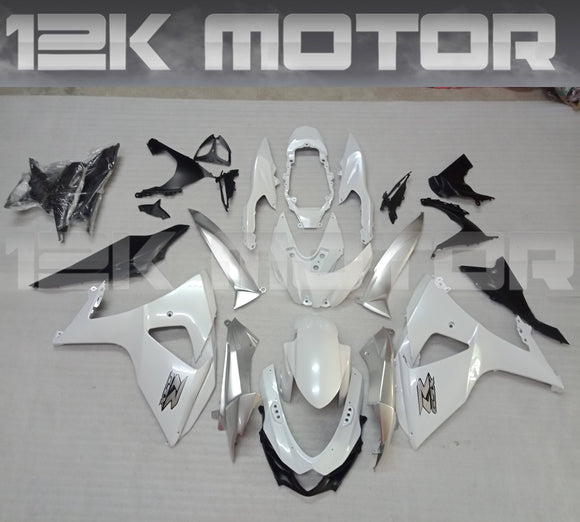 Factory Pearl White Design Fairing kit for SUZUKI GSX-R 1000 2009 - 2016