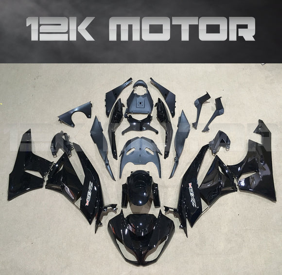 Black Aftermarket Fairing Kit fit 2009 to 2012 ZX-6R
