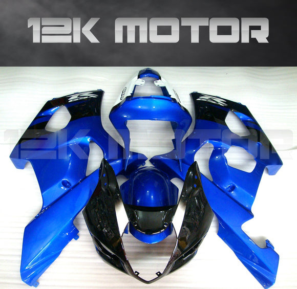 Black and Blue Fairing fit for SUZUKI GSXR1000 2003 2004 Aftermarket Fairing Kit