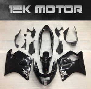 Silver Black Fairing fit HONDA CBR1100XX Blackbird 1996 1997 - 2007