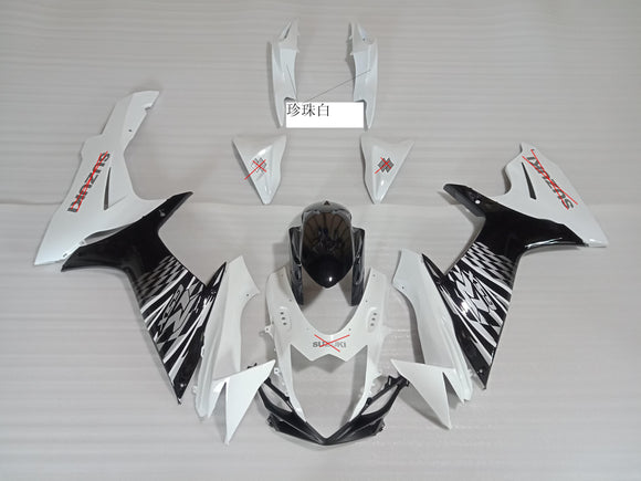---AU STOCKING---Black White Fairing Kit For Suzuki GSXR GSX-R 600 750 2011 - 2020