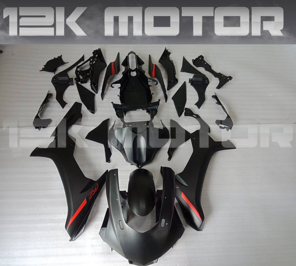 Matt Black Red Decal Yamaha 2015-2019 R1 Fairing Kit