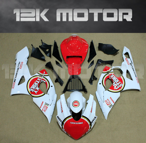 White and Red Fairing Fit for SUZUKI GSXR 1000 2005 2006 Aftermarket Fairing Kit