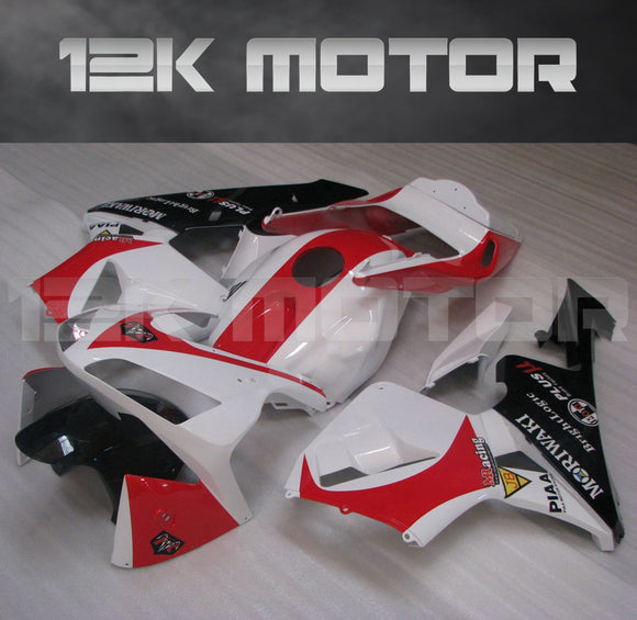 Fit for HONDA CBR600RR F5 2003 2004 White Red Fairing