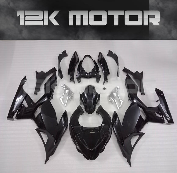 BLACK Aftermarket Fairing Kit Compatible with KAWASAKI Ninja 400 2018 2019 2020