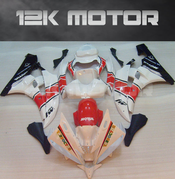 White Rossi Fairing Design fit for Yamaha R6 2006-2007 Aftermarket Fairing Kits