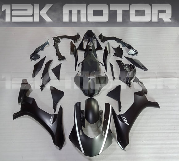 Matt Black White Decal Yamaha 2015 2016 2017 2018 2019 R1 Fairing Kit