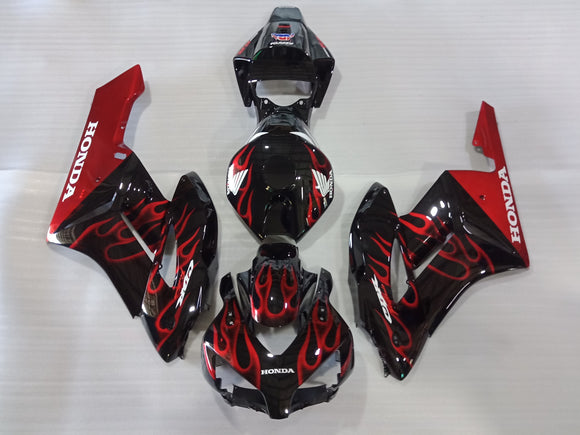 ---AU STOCKING---Fit Honda CBR1000RR 2004 2005 Red Flame Fairing Kit