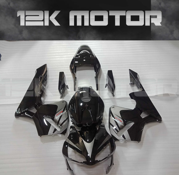 Black Silver Fairing Kit Fit HONDA CBR600RR CBR600 2003 2004
