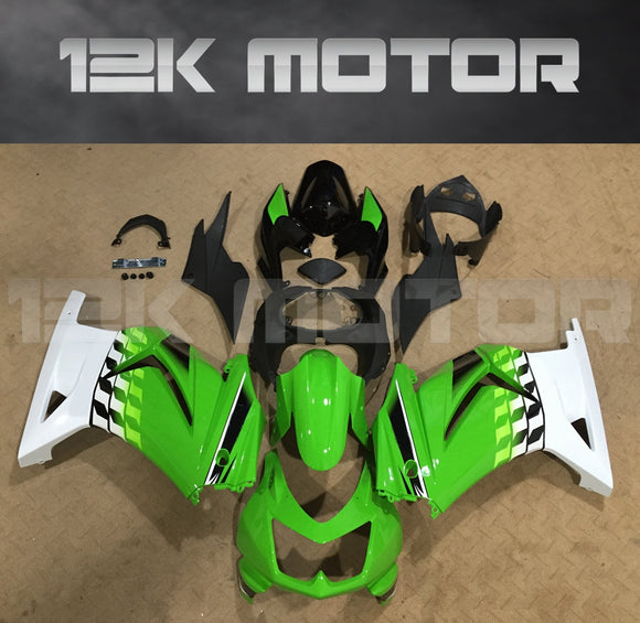 Green White Fairing Kit for Kawasaki Ninja 250 Fairings EX250 2008 2009 2010 2011 2012