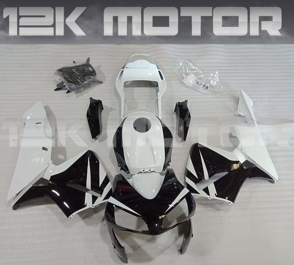 Black White Fairing Kit Fit for HONDA CBR600RR F5 2003 2004