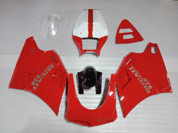 ---AU STOCKING--- Ducati 916 Fairing Kit Red White Color