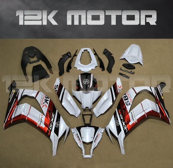 Pearl White Fairing kit fit 2011 to 2015 ZX-10R